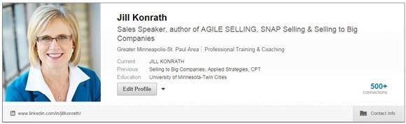 Jill Konrath profile on LinkedIn